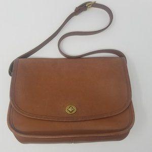 COACH City Vintage Camel Leather Purse Rare Color